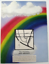Photo: This is the reverse of the Airbrush illustration. The map was inked with Rapidograph pens (pre-computer). I set all the type on an old machine (real film!) © 1985