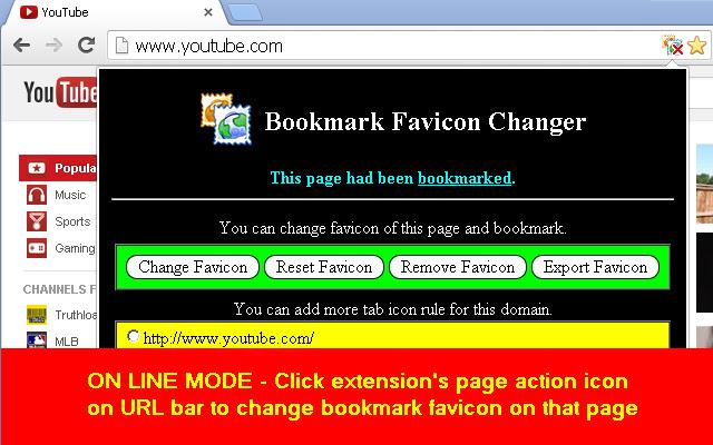 Bookmark Favicon Changer