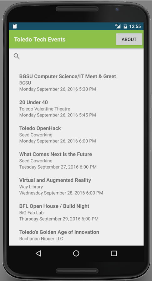 Toledo Tech Events- screenshot