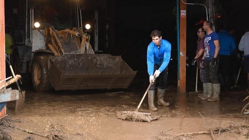 Rafa Nadal asombra al mundo con su solidaridad ante las inundaciones
