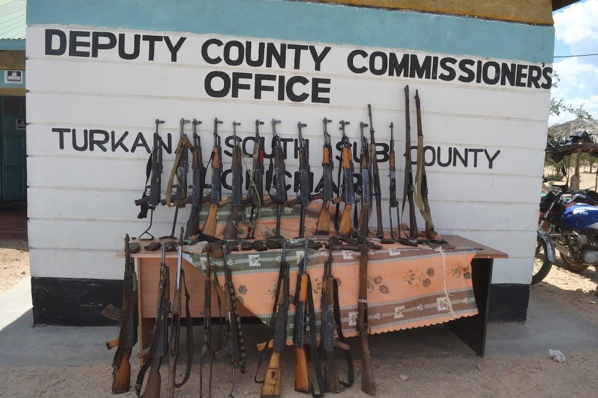 Turkana surrenders 53 illegal firearms, 300 bullets