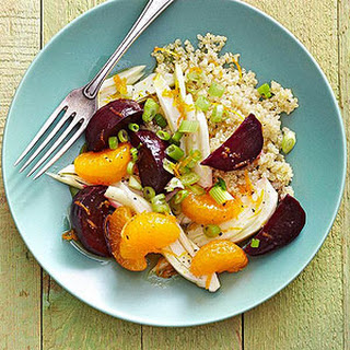 Quinoa Salad with Slow Cooker Beets, Oranges, and Fennel.