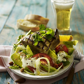 Grilled Tuna Steaks with Fennel Salad