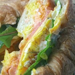 Salmon, Gouda, & Fried Egg Sandwiches.