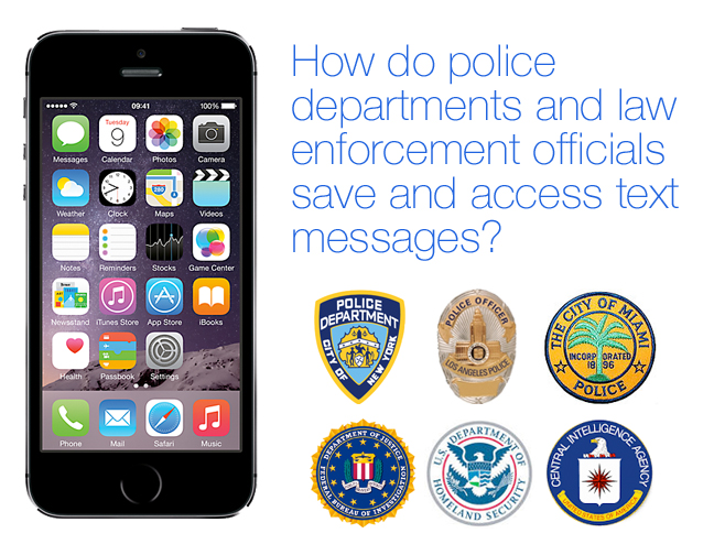police and law enforcement save iPhone text messages with Decipher TextMessage