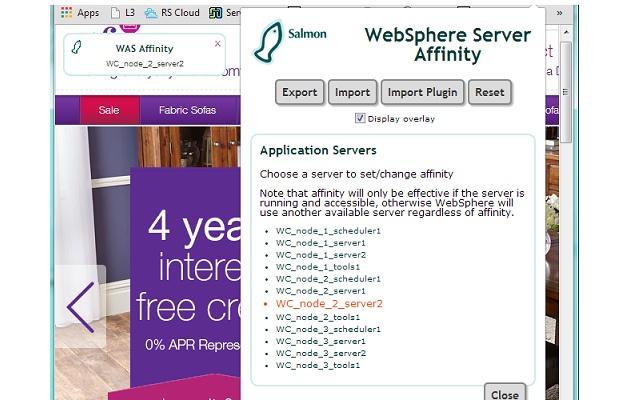WebSphere Server Affinity