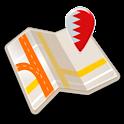 Map of Bahrain offline icon