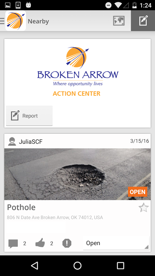 Action Center Broken Arrow- screenshot