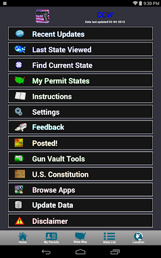 Screenshot for CCW – Concealed Carry 50 State in Hong Kong Play Store
