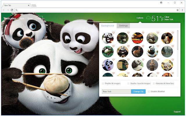 Kung Fu Panda Custom New Tab by freeaddon.com