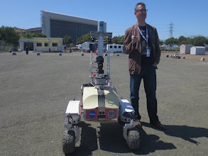 Photo: Michael with the K10 Robotic Rover