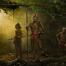 Hunting Time by Henry Kurniawan - People Portraits of Men ( indonesia, tribe, mentawai, portraits, people,  )