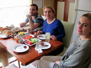Photo: great Turkish breakfast with Omer's family