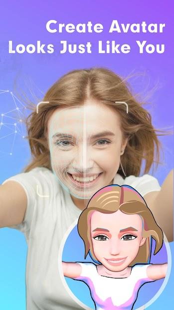 3D Avatar Creator, emoji maker & keyboard | Bemoji Android App Screenshot