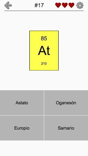 Los elementos qumicos de la tabla peridica quiz google play phone urtaz Images