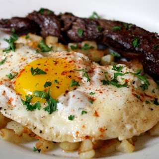 Steak and Eggs with Smoked Paprika.