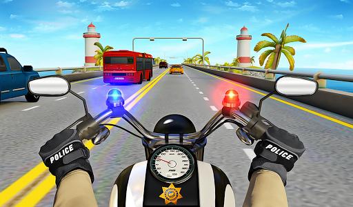 Police Moto Bike Highway Rider Traffic Racing Game modavailable screenshots 21