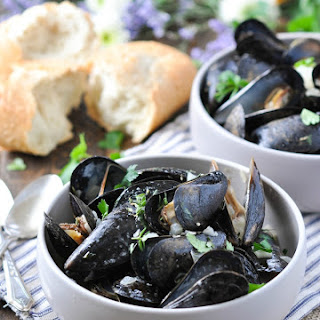 Steamed Mussels.