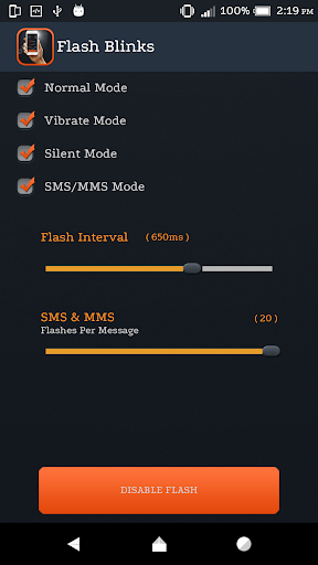 Flash On Call And SMS screenshot 5
