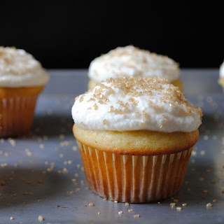 Italian Ricotta Cupcakes with Whipped Mascarpone Frosting.