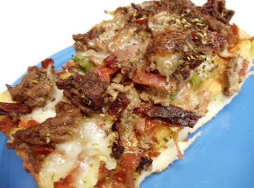 "Italian Stallion Pizza Recipe (My hubby's favorite) ""I made this tonight. The Hubs..."