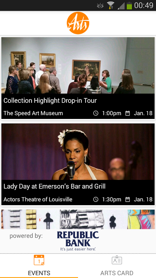 Louisville Arts Link- screenshot