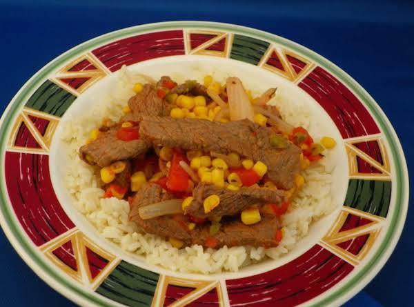 Skillet Steak And Corn Recipe