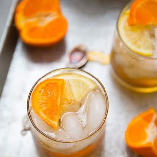 Ginger Maple Bourbon Cocktail.