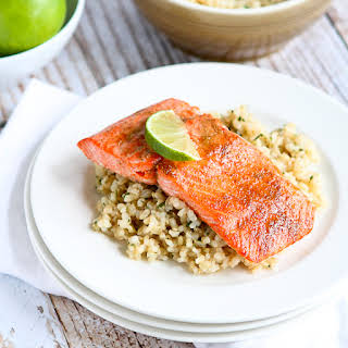 Spice Rubbed Lime Salmon.
