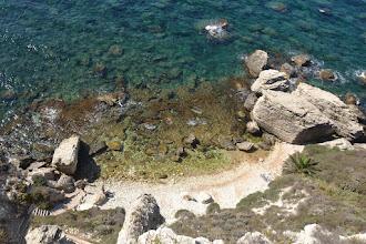 Photo: mestká plaž v Bonifáciu, pomerne ťažké podmienky na kúpanie
