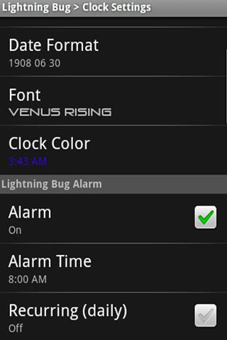 Lightning Bug  Sleep Clock screenshot 7