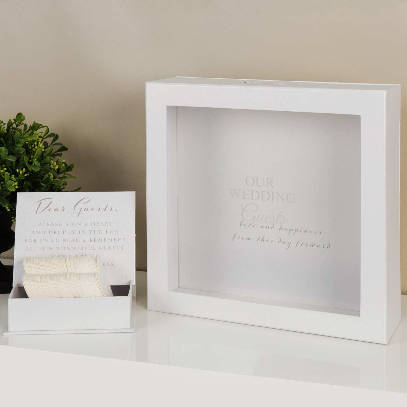Unique wedding gift ideas; Clintons Heart Tokens Message Box