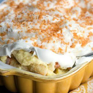 Coconut Cream Cake Pan Trifle.