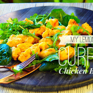 My Lemon Curry Chicken Bites.