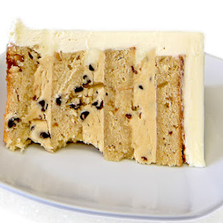 Peanut Butter Layer Cake with Chunky Peanut Butter Chip Filling.