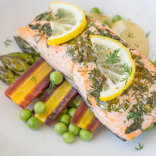 Baked Salmon With Spring Vegetables