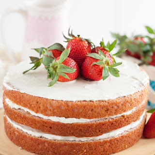 Strawberry Cake From Scratch.
