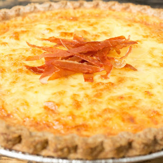 Bacon Lover's Duck Egg Quiche.