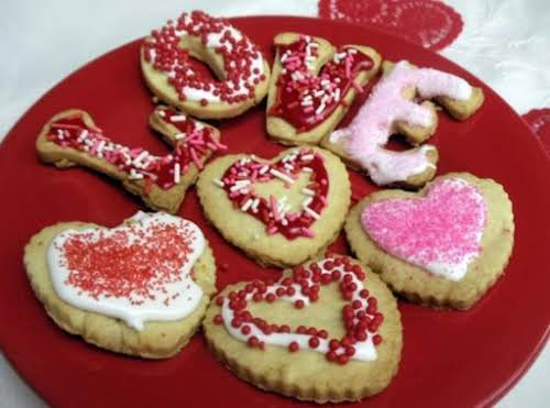 "Valentine Sugar Cookies - Citrus Flavored ""These were very good. My son made..."