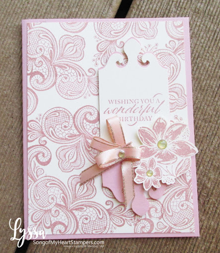 Simply Elegant lace stamps and Elegant Label punch