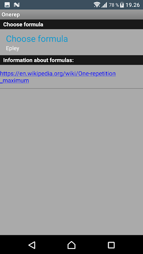 One Rep Max Calculator screenshot 2