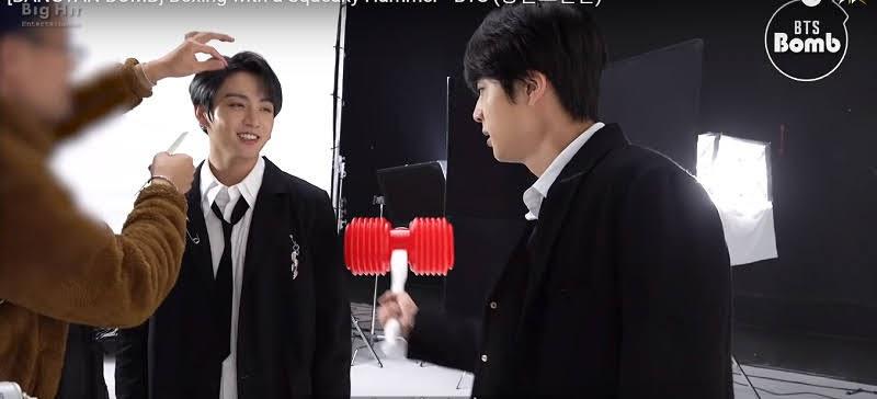 Bts Jin hitting Jungkook