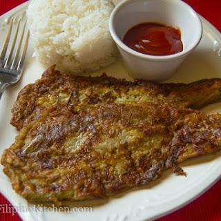 Tortang Talong (Eggplant Omelet).