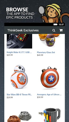 Screenshot 5 for ThinkGeek's Android app'