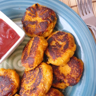 Indian Spiced Sweet Potato Patties.