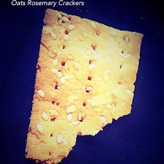 Oats Rosemary Crackers