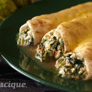 Spinach-Poblano Enchiladas