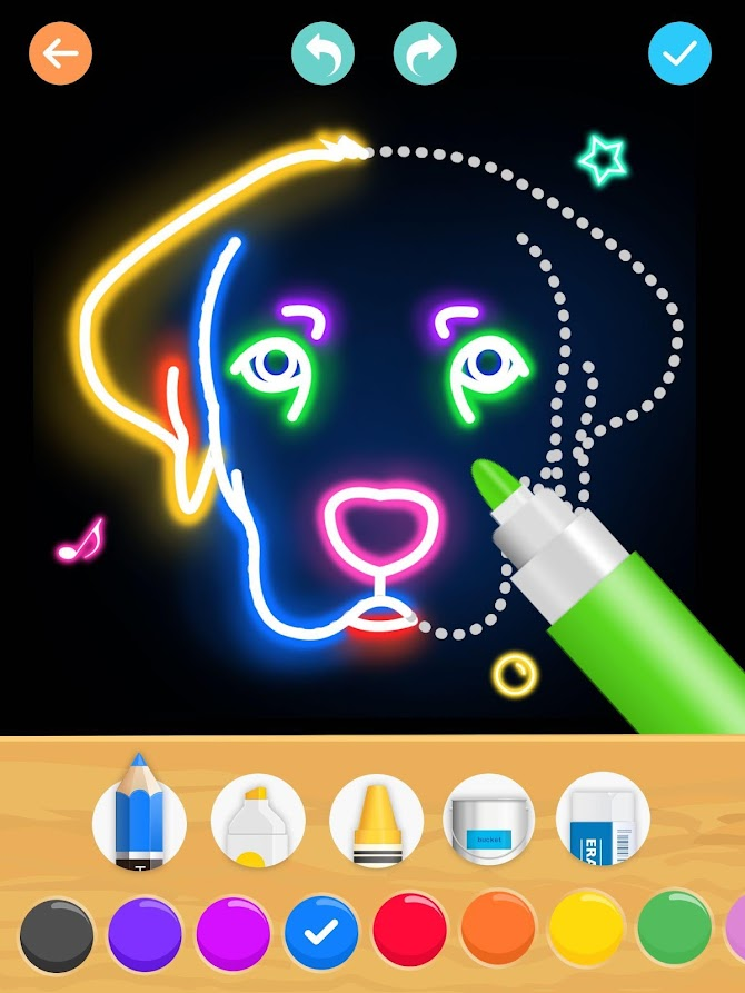 Draw Glow Animals Android 10