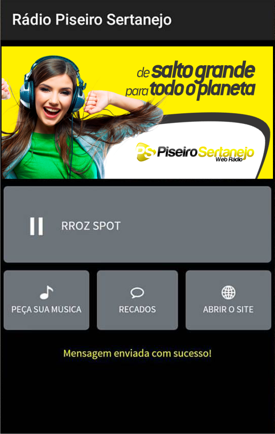 Rádio Piseiro Sertanejo- screenshot