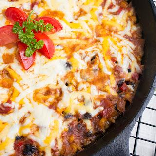 Skinny Tomato, Rice & Corn Skillet Casserole